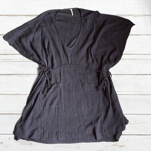 Free People Navy Beach Cover-Up/Tunic